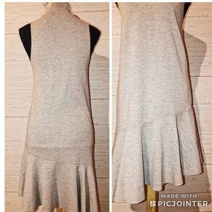 Leith asymmetrical jersey dress